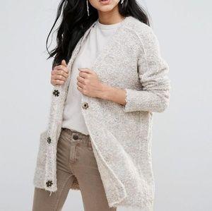 FREE PEOPLE alpaca wool cardigan small